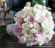 Orange Wedding Bouquet Miami Bride